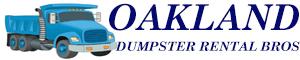 Oakland Dumpster Rental Bros Logo